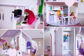 A dollhouse and furniture is a great gift for a child