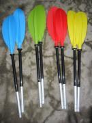 Dismountable two-piece paddle for kayaks and kayaks