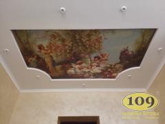 Фотопечать на натяжном потолке в детской комнате