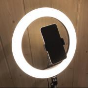 Кільцева лампа 26 см на штативі 2 метри з тримачем для телефону LED підсвічуванням кільцева Селфі
